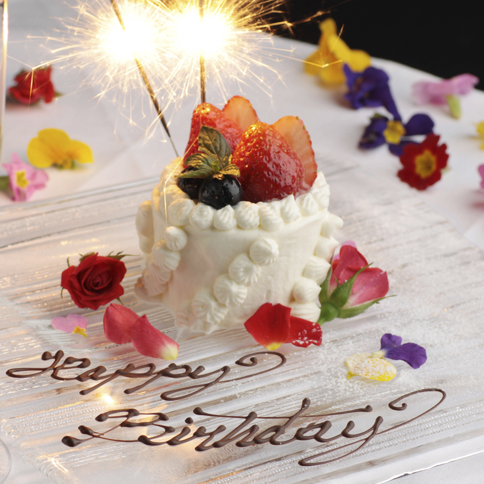 [お料理のみ] 【乾杯スパークリングワイン×記念日ケーキ付】豪華記念日コース7品