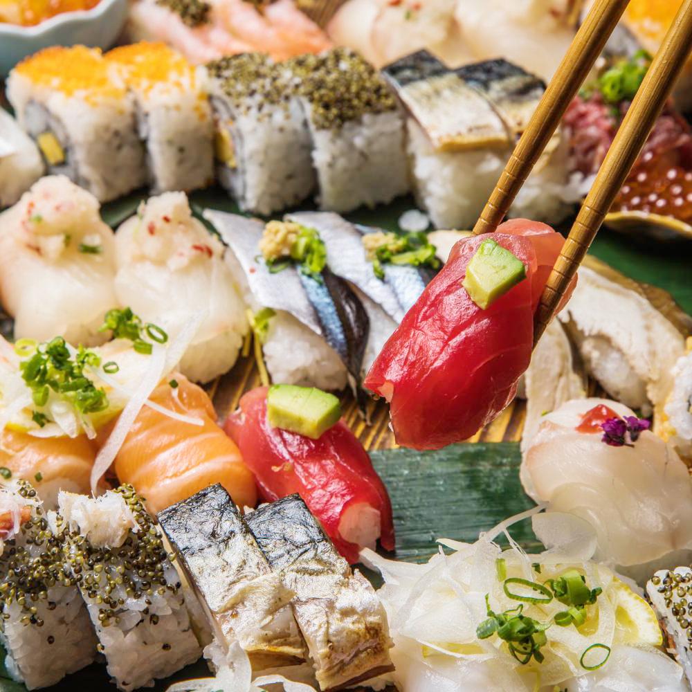 [お料理のみ] 【夏の贅沢】京鴨しゃぶしゃぶと京寿司22種食べ放題コース9品