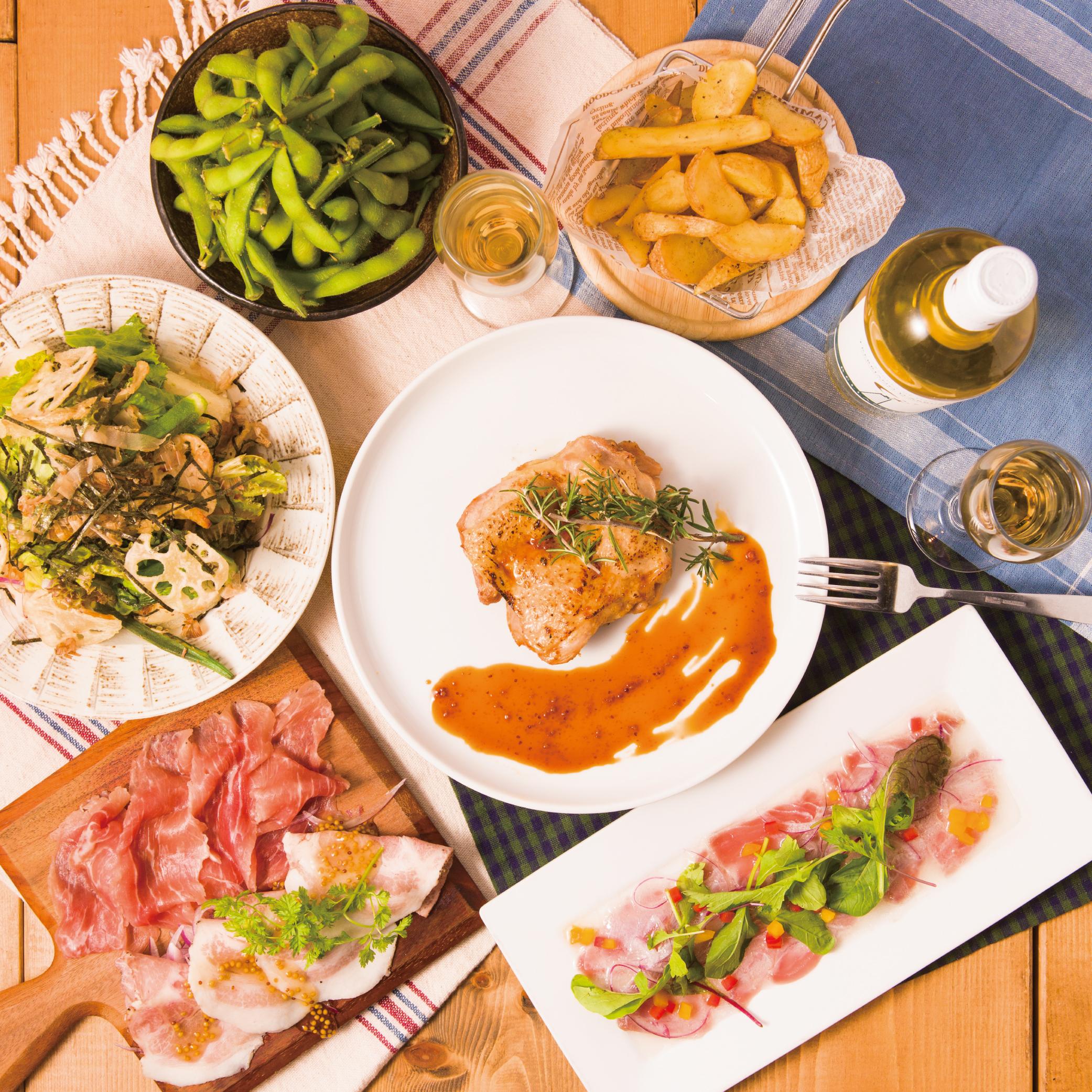 [2.5時間2.5H飲み放題2019.11~] 【人気!】メインのお肉が選べる9品