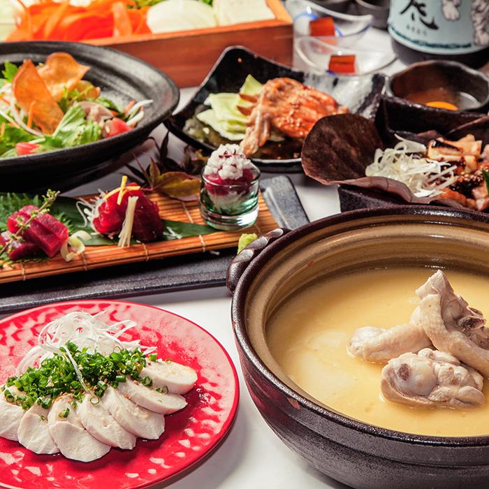 [お料理のみ] 【コース料理のみ】濃厚スープの水炊き鍋プラン8品