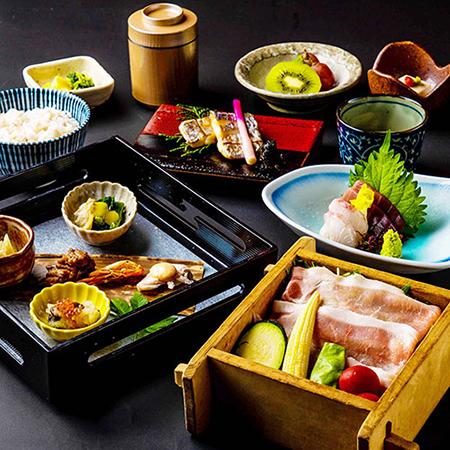 [お料理のみ] ≪個室確約≫ 茨城県産美明豚のせいろ会席8品