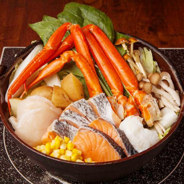 [3時間飲み放題] ずわい蟹の濃厚粕味噌鍋×金目鯛煮付けコース8品