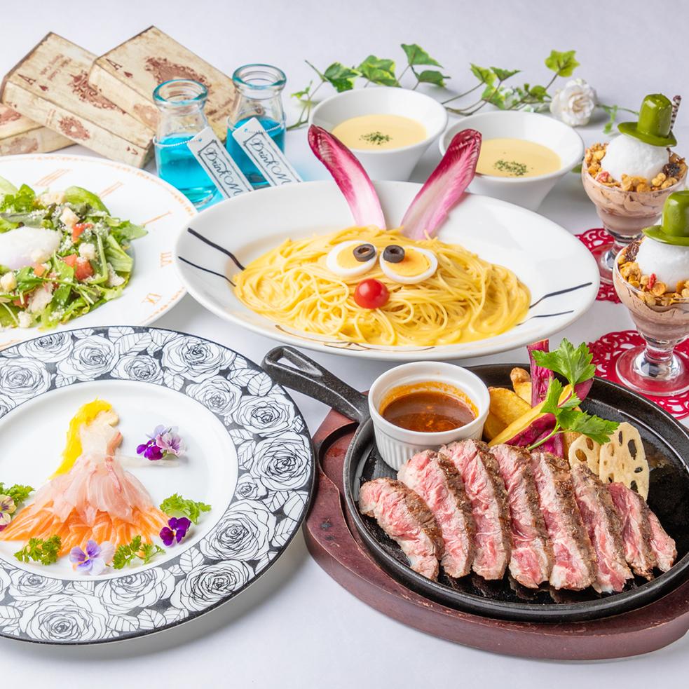 [お料理のみ] 熱々ジューシー!グリルステーキコース7品