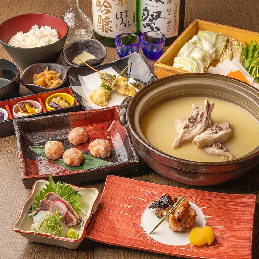 [2時間飲み放題] 濃厚水炊き鍋と旬菜堪能コース11品