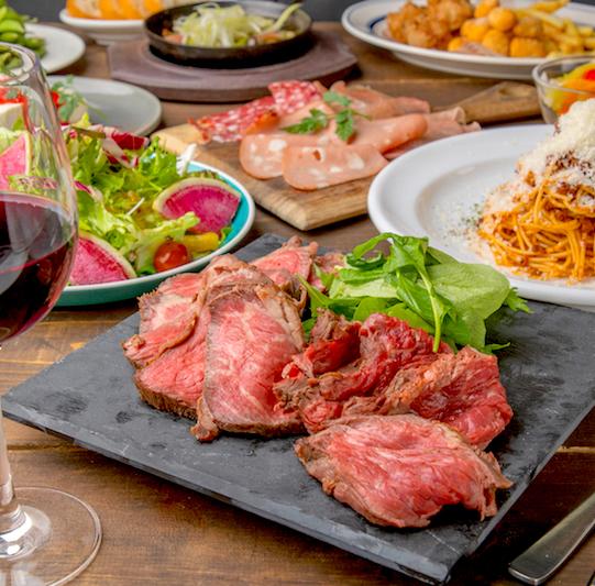 [3時間3時間飲み放題] 牛ステーキ食べ比べ12品