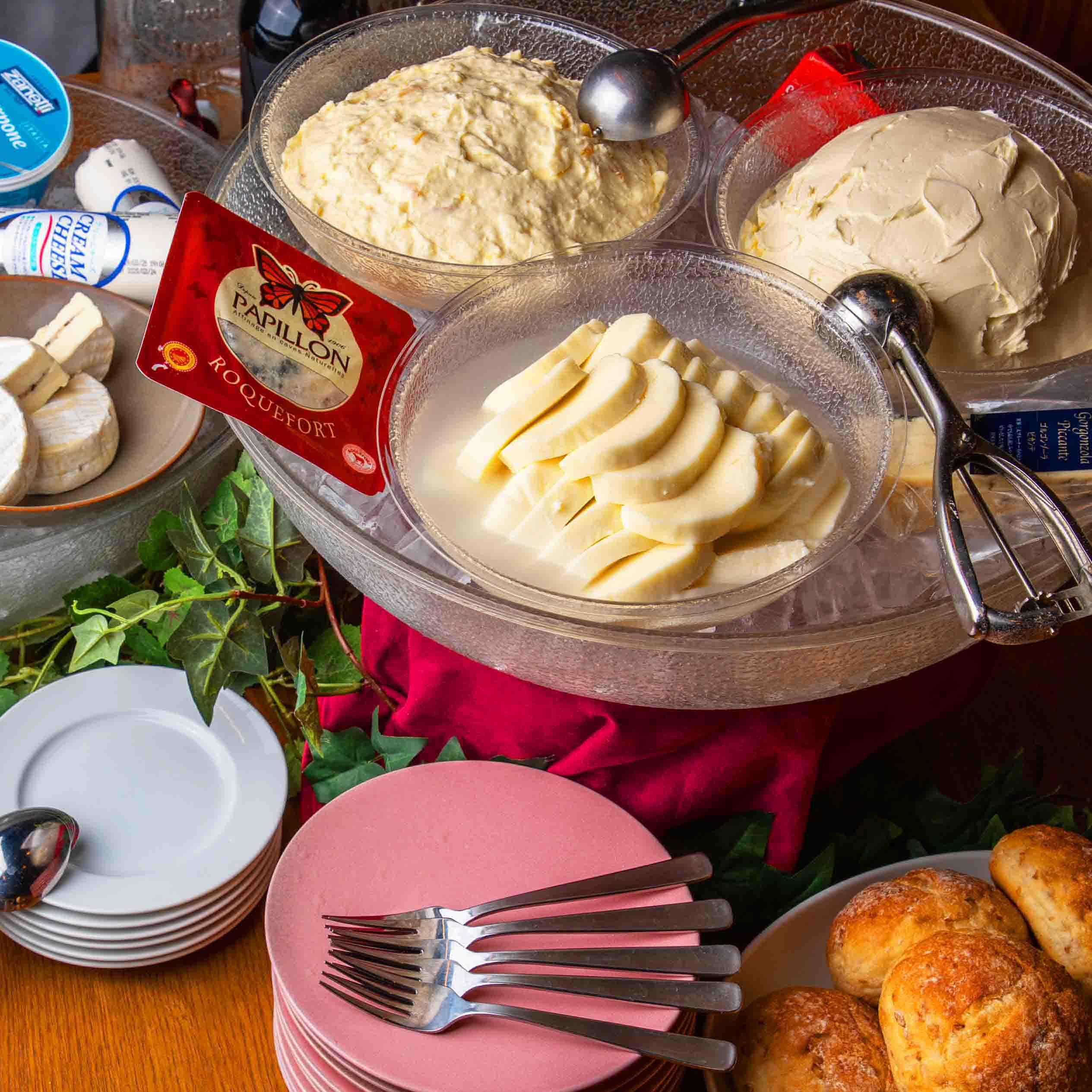 [お料理のみ] オウンド月~木限定5種チーズ食べ放題!プレミアムチーズビュッフェ6品