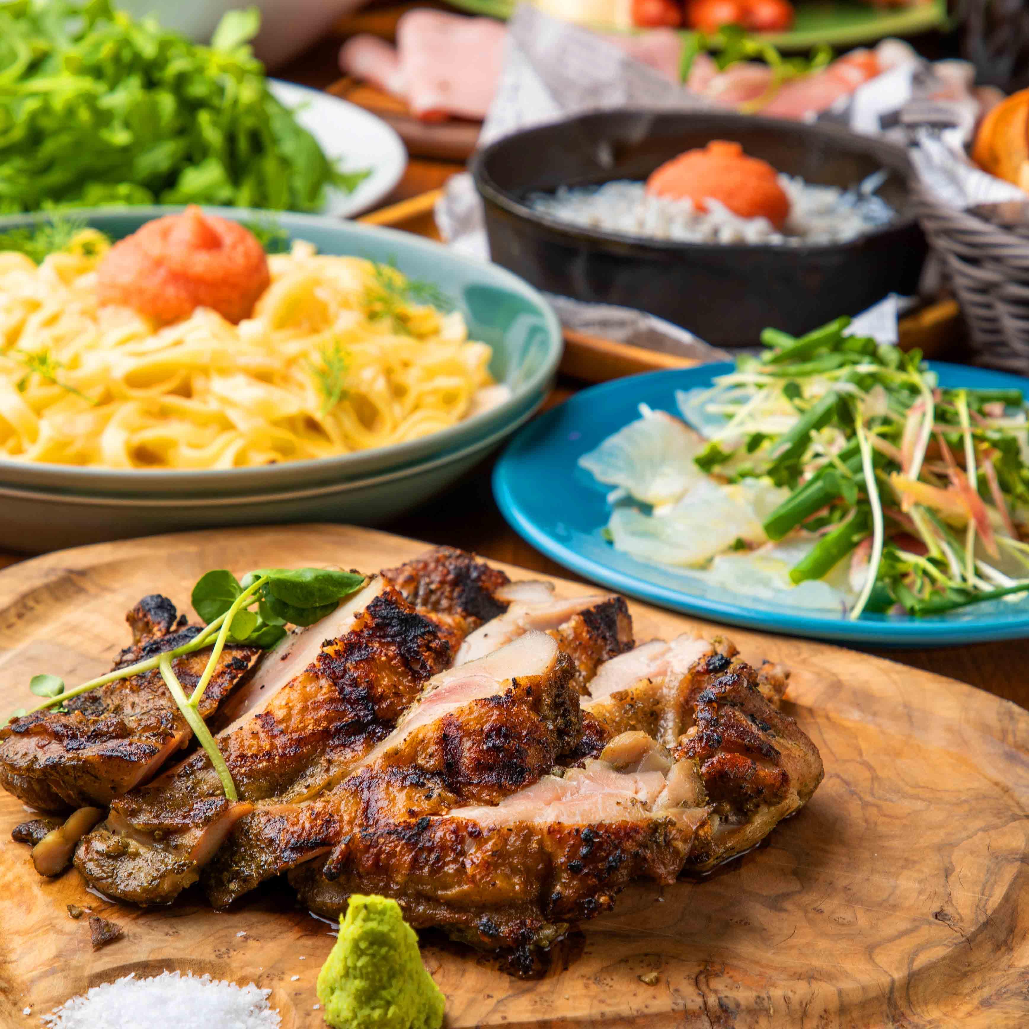 [お料理のみ] 【お料理のみ】チキングリル&本格トルティーヤピッツァが味わえる♪8品