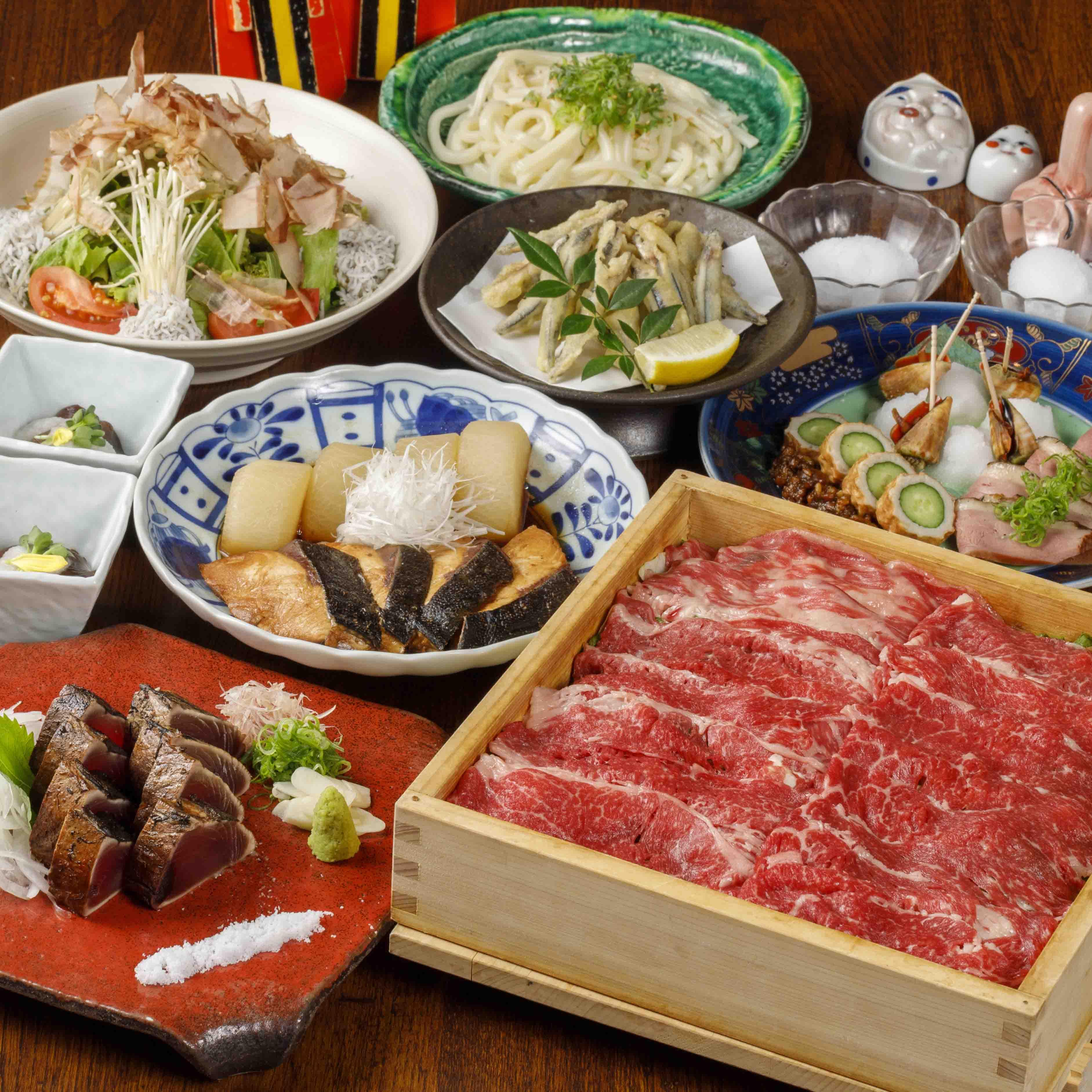 [曜日限定] [お料理のみ] 【丑年肉初め】黒毛和牛しゃぶしゃぶ12品コース12品