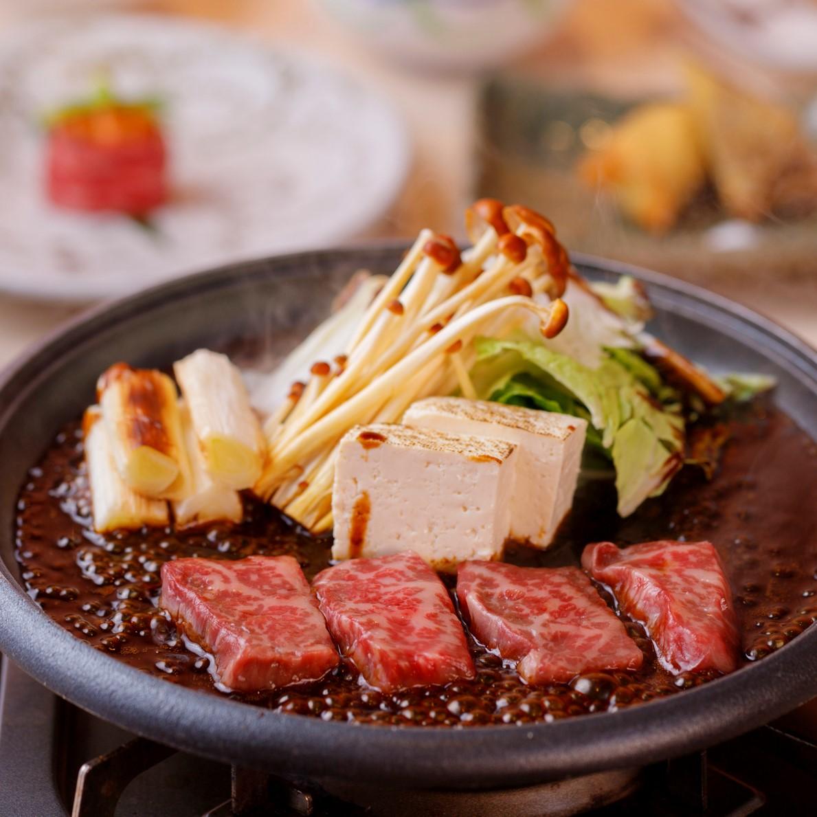 [お料理のみ] 【丑年肉始め】牛鍋と牛尽くしコース(料理のみ)11品