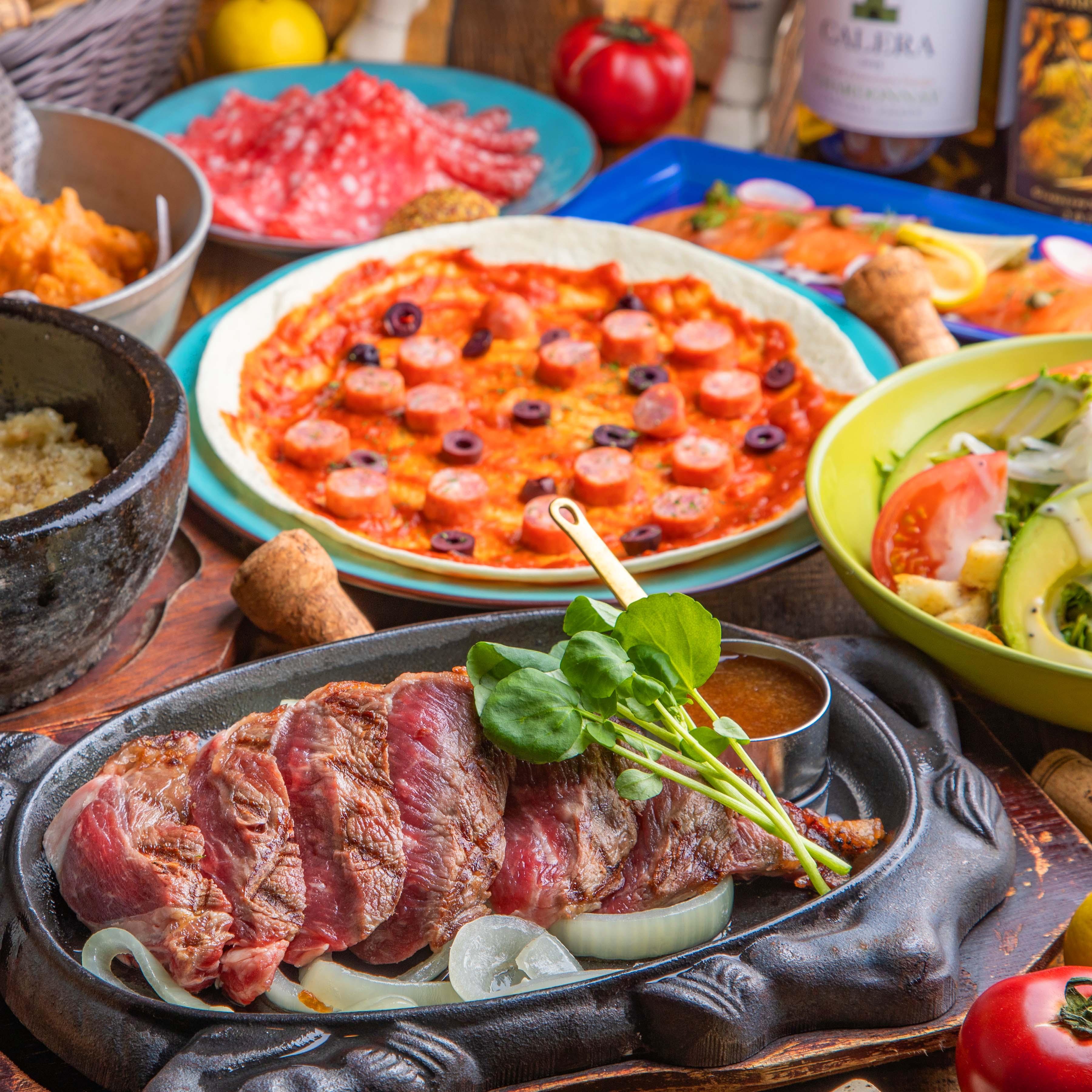 [お料理のみ] 【丑年肉初め】和牛のグリル、自家製ボロネーゼなどコースで楽しむ6品