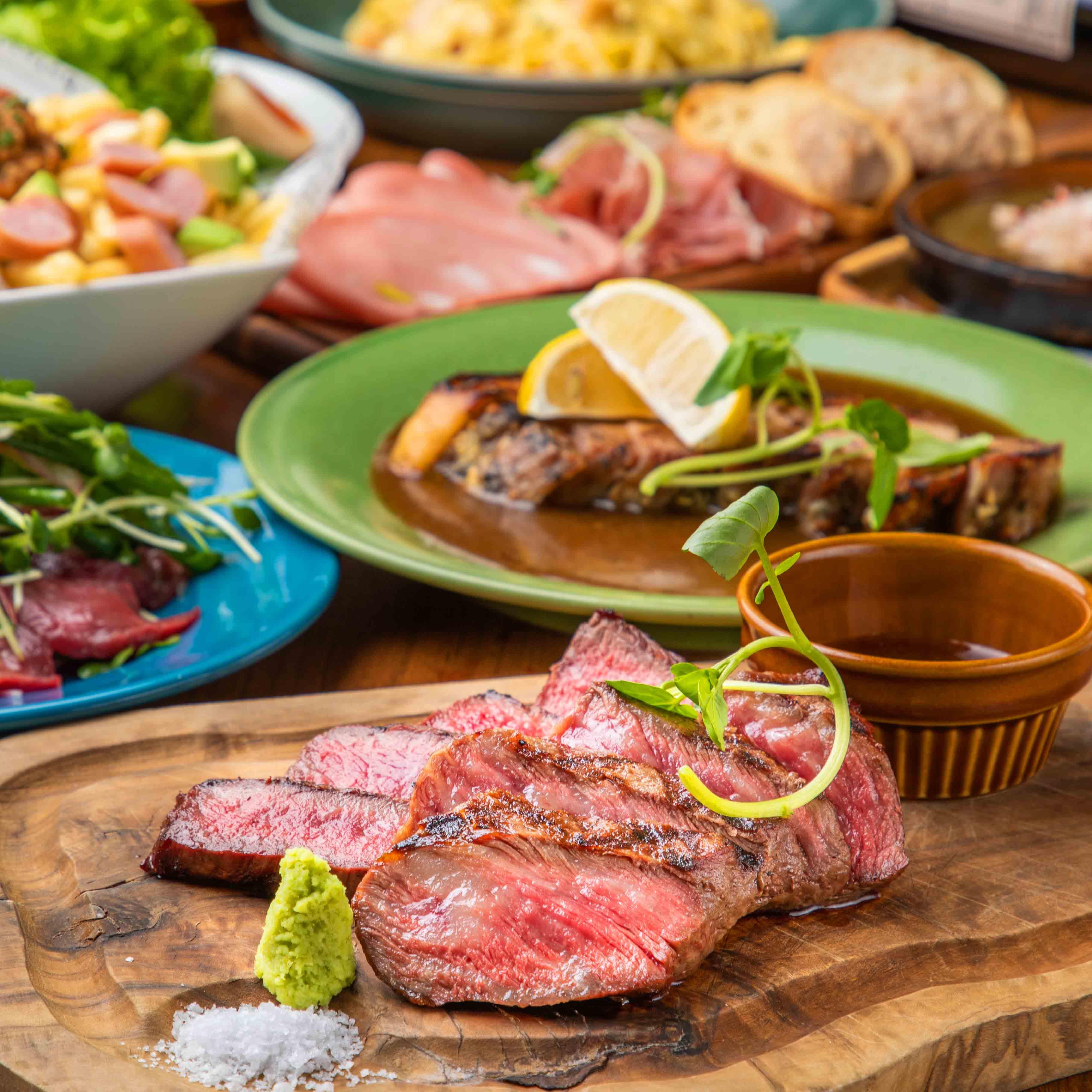 [お料理のみ] 【丑年肉初め】和牛のグリル、アヒージョなどコースで楽しむ7品