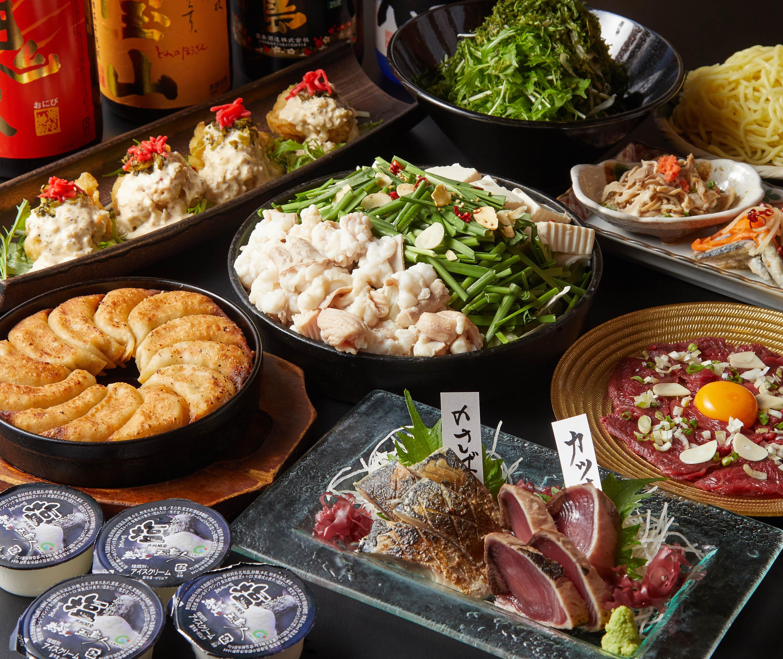 [2時間飲み放題] チキン南蛮・餃子・選ぶ鍋4000コース9品
