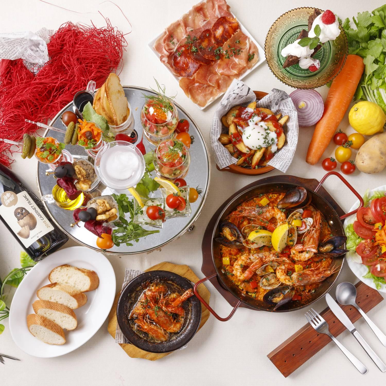 [2時間飲み放題] 選べるpaella・スペイン満喫コース6品