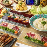馬刺し/チキン南蛮/串盛/鯖寿司5000コース