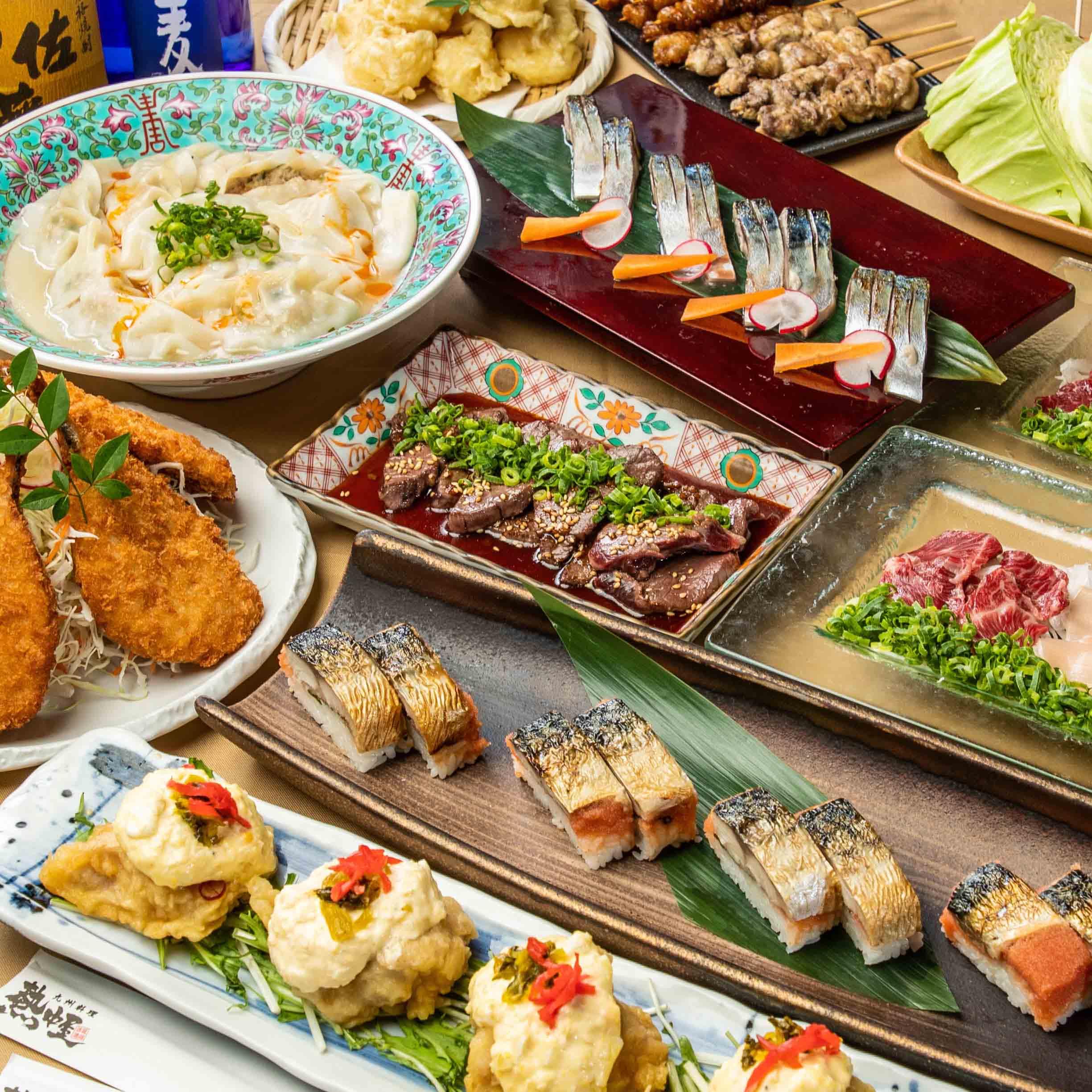 [2時間飲み放題] タタキ盛/チキン南蛮/鶏塩水餃子4000コース8品
