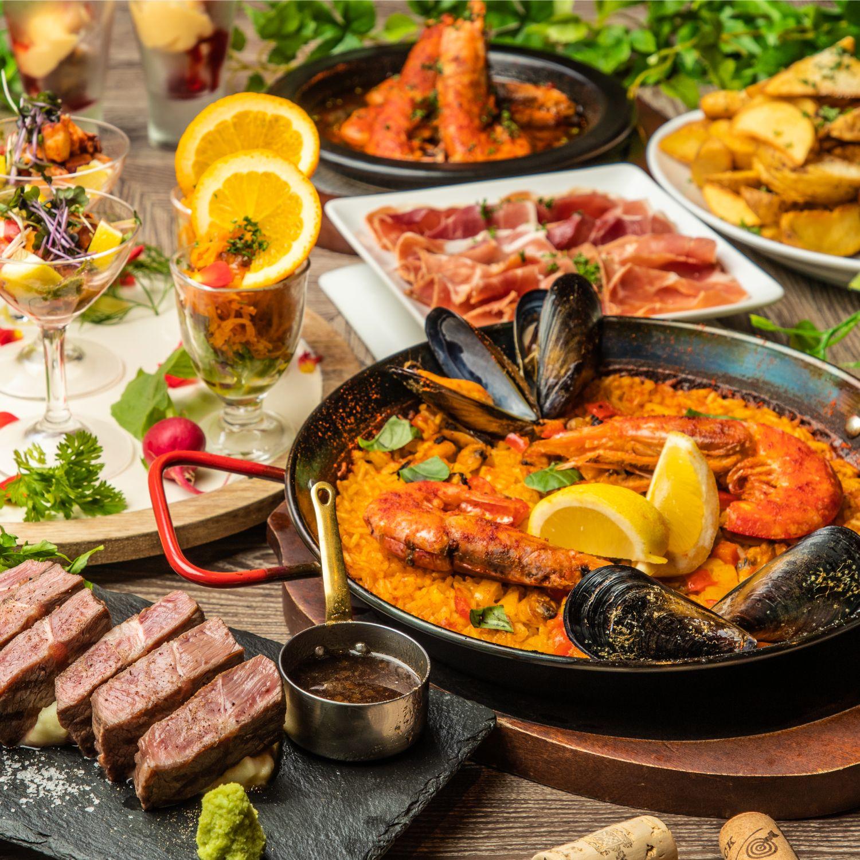 [お料理のみ] 選べるpaella・スペイン満喫コース7品