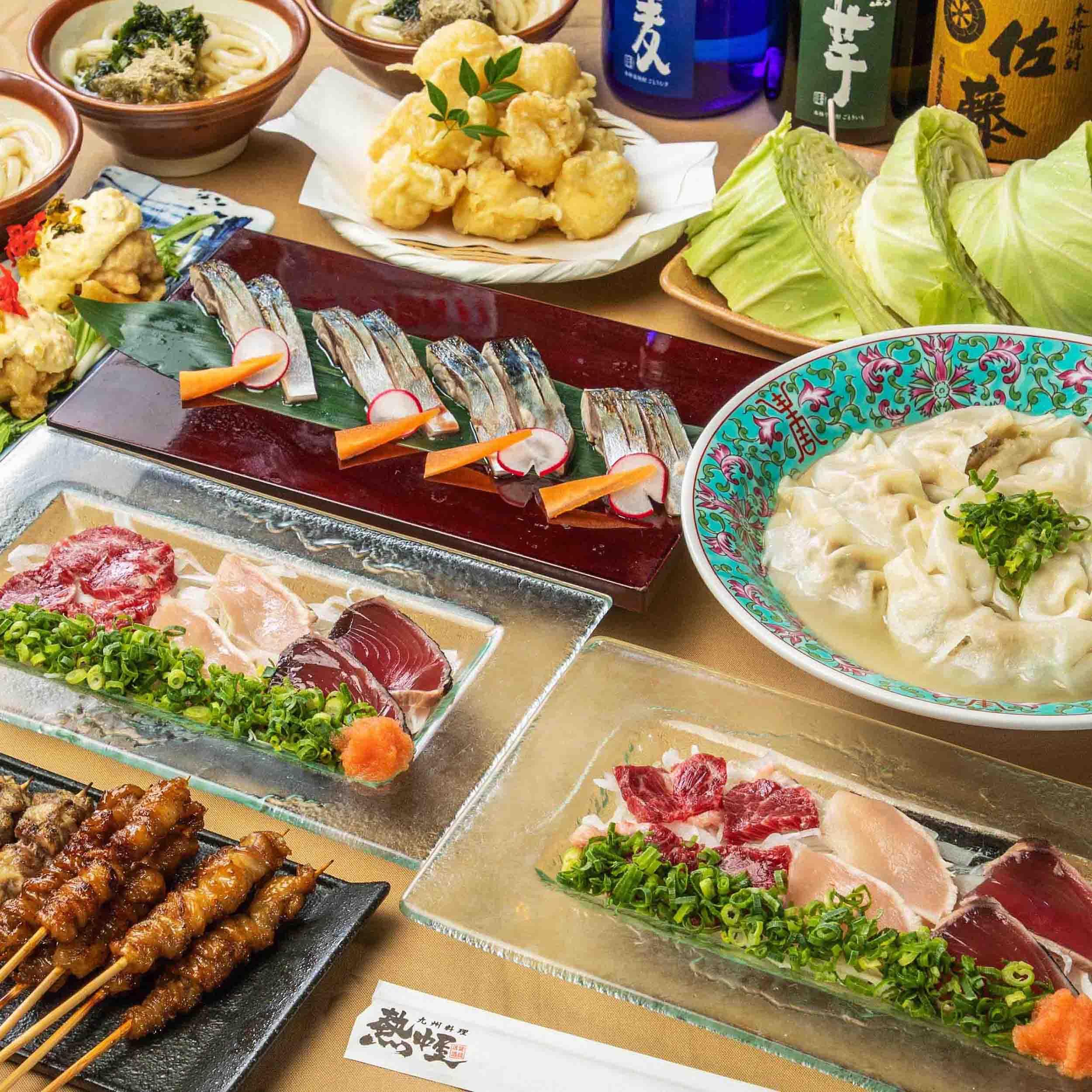 [2時間飲み放題] タタキ盛/チキン南蛮/博多もつ鍋4000コース8品