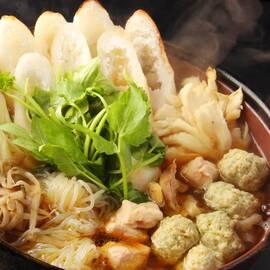 比内地鶏の【秋田名物 きりたんぽ鍋】