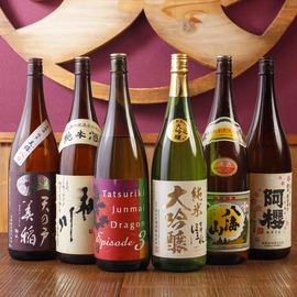 銘酒の種類も豊富に揃えております