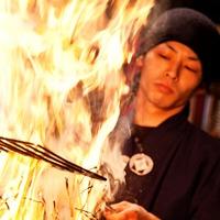 豪快なわら焼きの炎で一気に焼き上げます