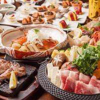 厳選八種鍋×豪華金目鯛煮付けコース